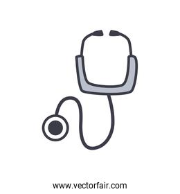 Medical stethoscope flat style icon vector design