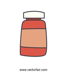Medicine jar flat style icon vector design