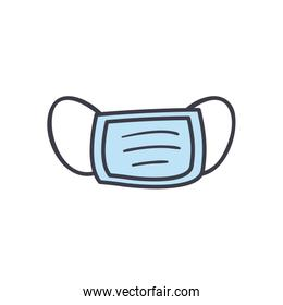 Medical mask flat style icon vector design