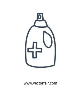 Alcohol bottle line style icon vector design