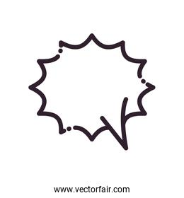 Explosion ommunication bubble line style icon vector design