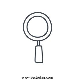 Isolated lupe line style icon vector design