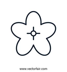 japanese flower nature isolated icon