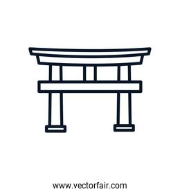 japanese traditional arch isolated icon