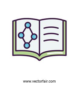 chemical book icon, line color style