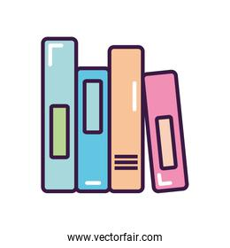 academic books icon, line color style
