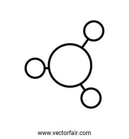 chemical molecules icon, line style