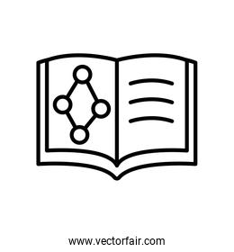chemical book icon, line style