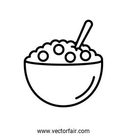 cereal bowl icon, line style