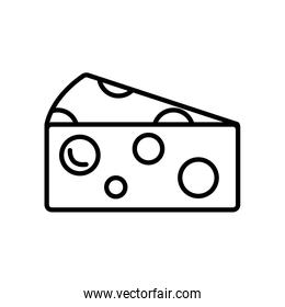 piece of cheese icon, line style