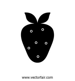 strawberry fruit design, silhouette style