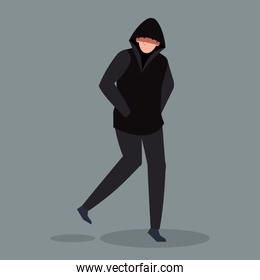 hacker person avatar character icon