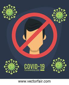 corona virus infographic with use face mask campaign