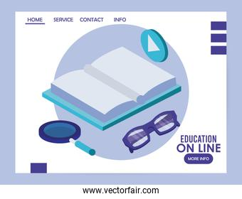 books education online tech icons