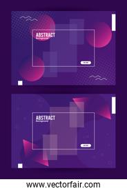 squares frames colorfull abstract background template