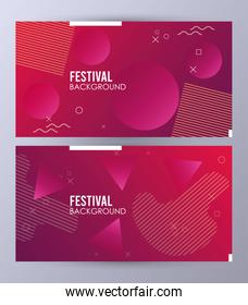 circles colorfull festival background template
