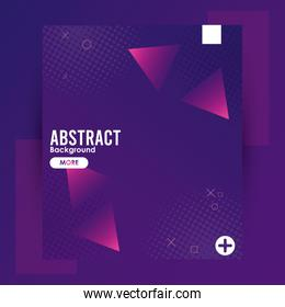 triangles colorfull abstract background template