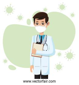 male doctor wearing medical mask