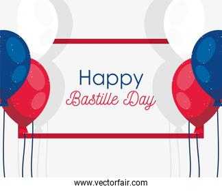 france balloons of happy bastille day