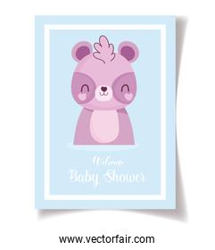 baby shower little raccoon celebration, welcome invitation template