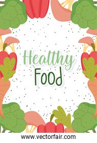 healthy food, menu natural products health balance nutrition diet