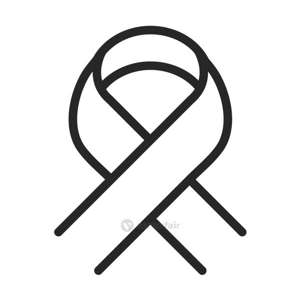donation charity volunteer help social campaign awareness ribbon line style icon