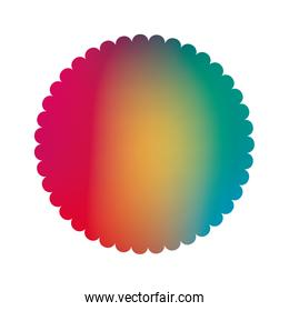 Isolated colored gradient seal stamp banner vector design