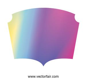 Isolated purple and blue gradient frame banner vector design