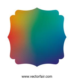 Blue gree and red gradient frame banner vector design