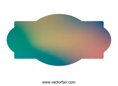 Isolated blue and light gradient frame banner vector design