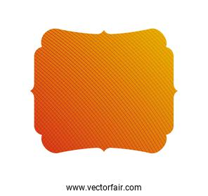 Isolated yellow and orange gradient frame banner vector design