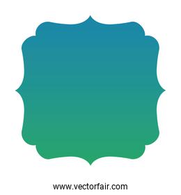 Isolated blue and green gradient frame banner vector design