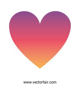 Gradient heart icon vector design