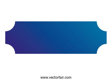 Isolated blue gradient frame banner vector design