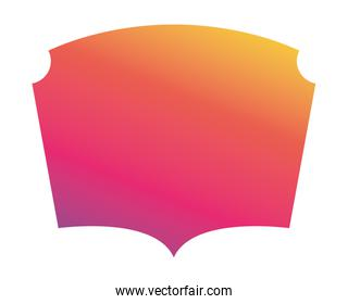 Purple pink orange and yellow gradient frame banner vector design