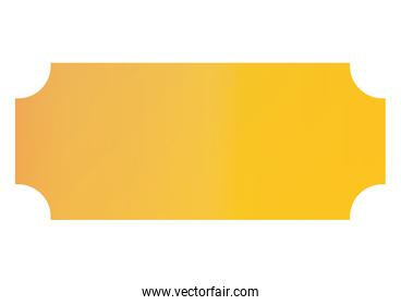 Isolated yellow gradient frame banner vector design