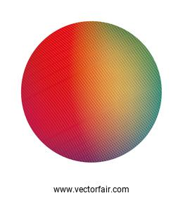 Isolated colored gradient circle banner vector design
