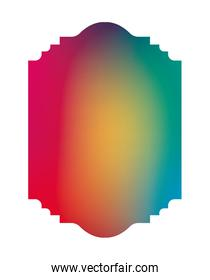 Isolated colored gradient frame banner vector design