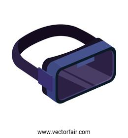 virtual reality glasses, isolated on white background