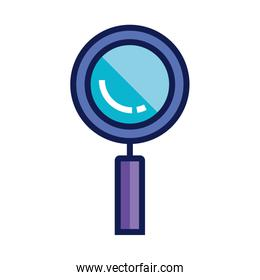 magnifying glass icon, loupe sign