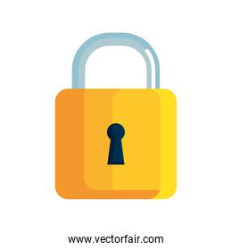 locker icon, padlock symbol, safety and security protection on white background