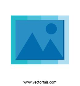 image icon, picture sign on white background