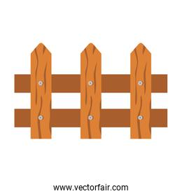 wooden fence icon on white background