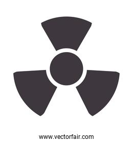 nuclear caution signal isolated icon