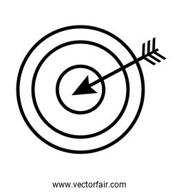 target and arrow line style icon