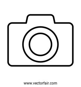 photographic camera line style icon