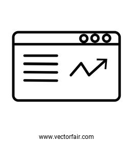 webpage template line style icon