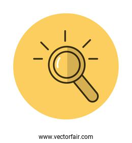 magnifying glass block style icon