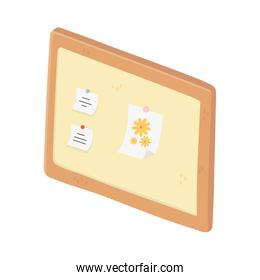 board note paper drawing flowers isolated icon design