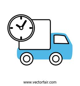 truck speed service mobile marketing and e-commerce line and fill style icon